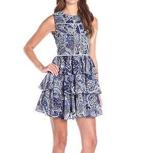 Cynthia Rowley Sleeveless Paisley Ruffle Dress